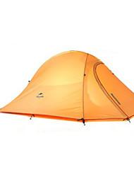 NatureHike® 2 Pessoas Tenda Duplo Um Quarto Barraca de acampamento Silicone Alúminio PoliésterÁ Prova de Humidade Respirabilidade