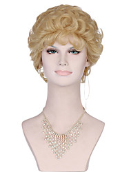 6A Synthetic Cosplay Wigs Women's Short Natural Body Wave Blonde Wig Heat Resistant Fiber Wig