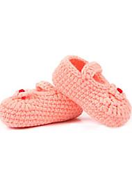 Para Meninas Bebê-Rasos-Primeiros Passos-Rasteiro-Verde Rosa-Veludo-Casual