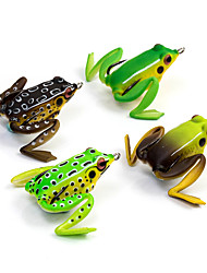 "1 pcs Soft Bait Fishing Lures Frog Brown Green Yellow Coffee Random Colors g/Ounce mm/2-1/8"" inch,Soft PlasticSea Fishing Spinning"