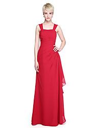 LAN TING BRIDE Floor-length Straps Bridesmaid Dress - Elegant Sleeveless Chiffon