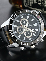 Men's Dress Watch Fashion Watch Wrist watch Quartz PU Band Casual Black Brown Brand