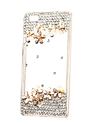 DIY Flowers with Rhinestone Pattern PC Hard Case for Multiple Huawei P8 P9 Lite Honor 8 Mate 7 8 9 plus