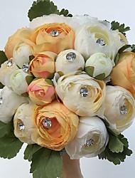 Fleurs de mariage Rond Pivoines Bouquets Mariage La Fête / soirée Satin Strass Env.23cm