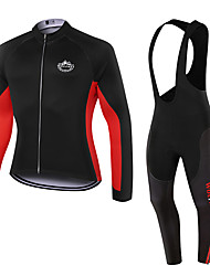 WOLFKEI Winter Thermal fleece Long Sleeve Cycling JerseyLong Bib Tights Ropa Ciclismo Cycling Clothing Suits #WK55
