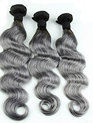 Menschenhaar spinnt Eurasisches Haar Große Wellen 3 Monate 3 Stück Haar webt