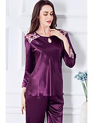 Lingerie en Dentelle / Bustiers Correspondants / Satin & Soie / Ultra Sexy / Costumes Vêtement de nuit Femme,Sexy / Lace Couleur Pleine-
