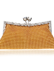 L.west Women Elegant High-grade Beads Diamonds Evening Bag