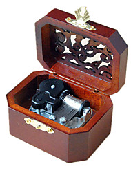 Music Box Castle in the Sky / Spirited Away / Canon Sweet / Special / Creative Metal / Wood Brown For Boys / For Girls