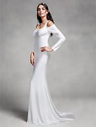Lanting Bride® Trompeta / Sirena Vestido de Boda Corte Tirantes Punto con