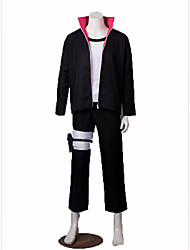 Inspired by Naruto Cosplay Anime Cosplay Costumes Cosplay Suits Solid Bandage Coat Pants Leg Warmers T-shirt For