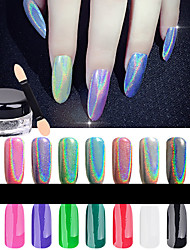 1box (1g) powder +1pcs small brush Manucure Dé oration strass Perles Maquillage cosmétique Nail Art Design