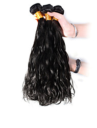 3pcs Peruvian Hair Bundles Weaves Natural Black Natural Wave Hair Weft 100% Unprocessed Brazilian Human Hair Weft