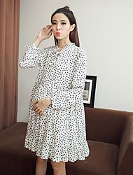 Sign pregnant women Hitz long-sleeved floral dress for pregnant women