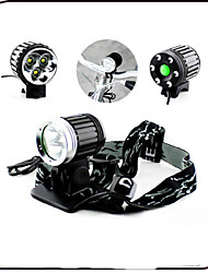 CE ROHS 3 Mode 3000 Lumens Front Bike Led Light AC 8.4V 6600mAh battery pack Waterproof/Rechargeable/Impact