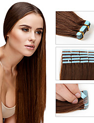 Brazilian Remy Hair 16inch-24inch Tape Hair Extension 20pcs/lot Straight Virgin Hair PU Skin Weft Remy Tape Human Hair Extension