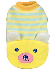 Hunde Pullover Gelb Hundekleidung Winter / Frühling/Herbst Tier Lässig/Alltäglich