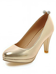 Women's Heels Spring Fall Leatherette Office & Career Casual Dress Stiletto Heel Gold Sliver Blushing Pink