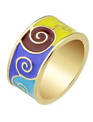 Anéis Casual Jóias Liga Feminino Maxi anel 1peça,7 / 8 Preto / Verde / Piscina