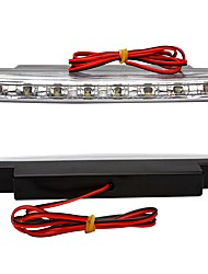 ziqiao 2x blanc 8 conduit journée de voiture DRL lampe frontale légère en marche super lumineux