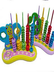 Обучающая игрушка Игрушечные счеты Хобби и досуг Цилиндрическая Дерево Радужный Для мальчиков Для девочек