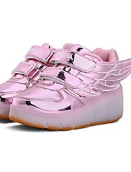 Women's Athletic Shoes Winter Comfort PU Athletic Flat Heel Others LED