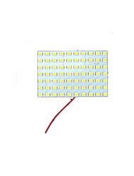 2x Festoon t10 BA9S warme weiße geführte 70 SMD Panel-Innenhaube Karte Glühlampe-Lampe 12V