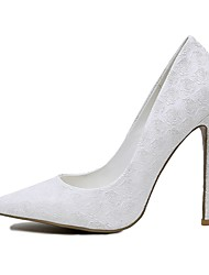 Mujer-Tacón StilettoTacones-Boda Fiesta y Noche-Materiales Personalizados-Blanco