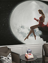 JAMMORY Wallpaper For Home Wall Covering Canvas Adhesive required MuralBody Woman Under Moon XL XXL XXXL