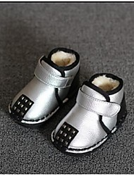 Girl's Baby Boots Comfort Leatherette Casual White Silver