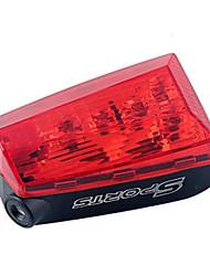 bicicletas cauda luz laser bicicleta 5LED cauda traseira da lâmpada piloto do laser moto luz montanha