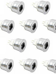 10pcs 3W MR11 350LM ha condotto le luci del punto (12v)