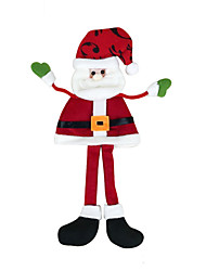 Рождественский декор Товары для Рождественской вечеринки Товары для отпуска 2Pcs Рождество Текстиль Серебристый