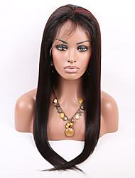 T1b / 99j destaque penteado reto peruca dianteira brasileira virgem do cabelo humano laço com cabelo do bebê