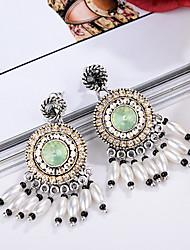 Boucle Strass Boucles d'oreilles Bijoux Femme Mariage / Soirée Strass / Plaqué argent 1 paire Clair