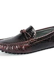 Men's Loafers & Slip-Ons Comfort Other Animal Skin Casual Black Brown Burgundy