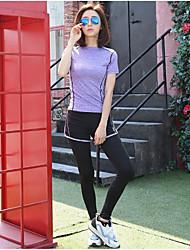 costumes de yoga courir les femmes pantalons de fitness costume de sport mince t-shirt femme en plein air sec