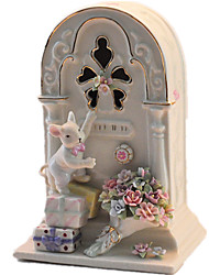 Music Box Music Creative Ceramics White For Boys / For Girls