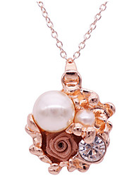 Women's Pendant Necklaces Crystal Imitation Pearl Pearl Alloy Geometric Unique Design Fashion Jewelry Daily Casual 1pc