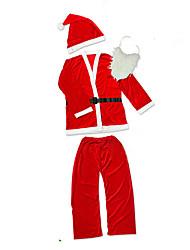 Costumes de Cosplay Costumes de père noël Fête / Célébration Déguisement Halloween Rouge / Blanc Couleur PleineHaut / Pantalon / Plus