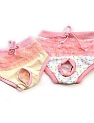 Gatos Perros Pantalones Ropa para Perro Invierno Verano Primavera/Otoño Bloques Adorable Amarillo Rosa