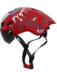 FTIIER Pneumatic Bicycle Helmet with Wind Protector Retractable Polarized Lens Integrally Molded Adjustment Road Cycling Helmet