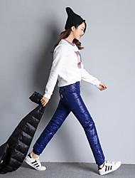 signent un nouvel hiver épais vers le bas des pantalons pieds féminins loisirs de plein air usure extérieure double face chaude grands