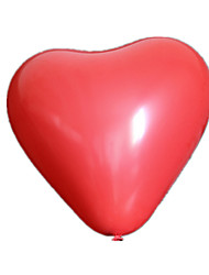 Balloons Heart-Shaped Rubber 5 to 7 Years