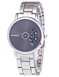 Men's Women's Fashion Watch Wrist watch Unique Creative Watch Quartz Alloy Band Silver