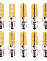 7W E17 Lâmpadas Espiga T 80 SMD 5730 500-700 lm Branco Quente / Branco Frio Regulável / Decorativa V 10 pçs