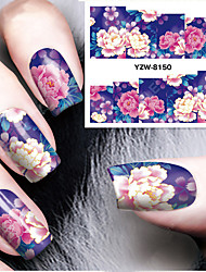 1Pcs Gorgeous Peony Chinese Wind Nail Stickers Nail Art Design