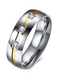 Ringe Normal Schmuck Stahl Herren Ring 1 Stück,7 8 9 10 Silber