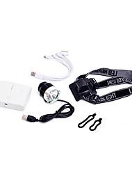 usb set interface lumières lampe de poche de pliage VTT phares xpe charge éclairage q5