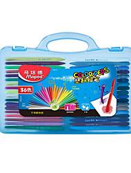 pintura à mão vara 36 cor das crianças graffiti não-tóxico não pode ser rolada